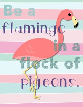 Worksheets teaching resources tpt. Flock of pigeons and one flamingo clipart