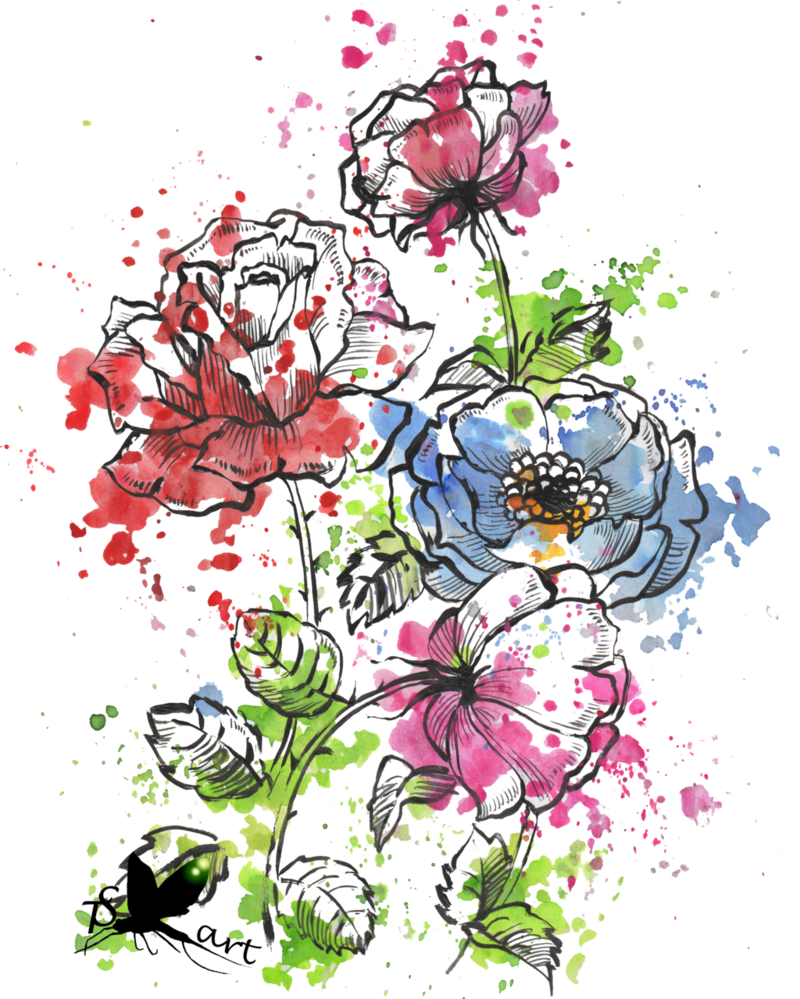 Floer picture picture black and white download Watercolor flowers by Krmiol on DeviantArt picture black and white download