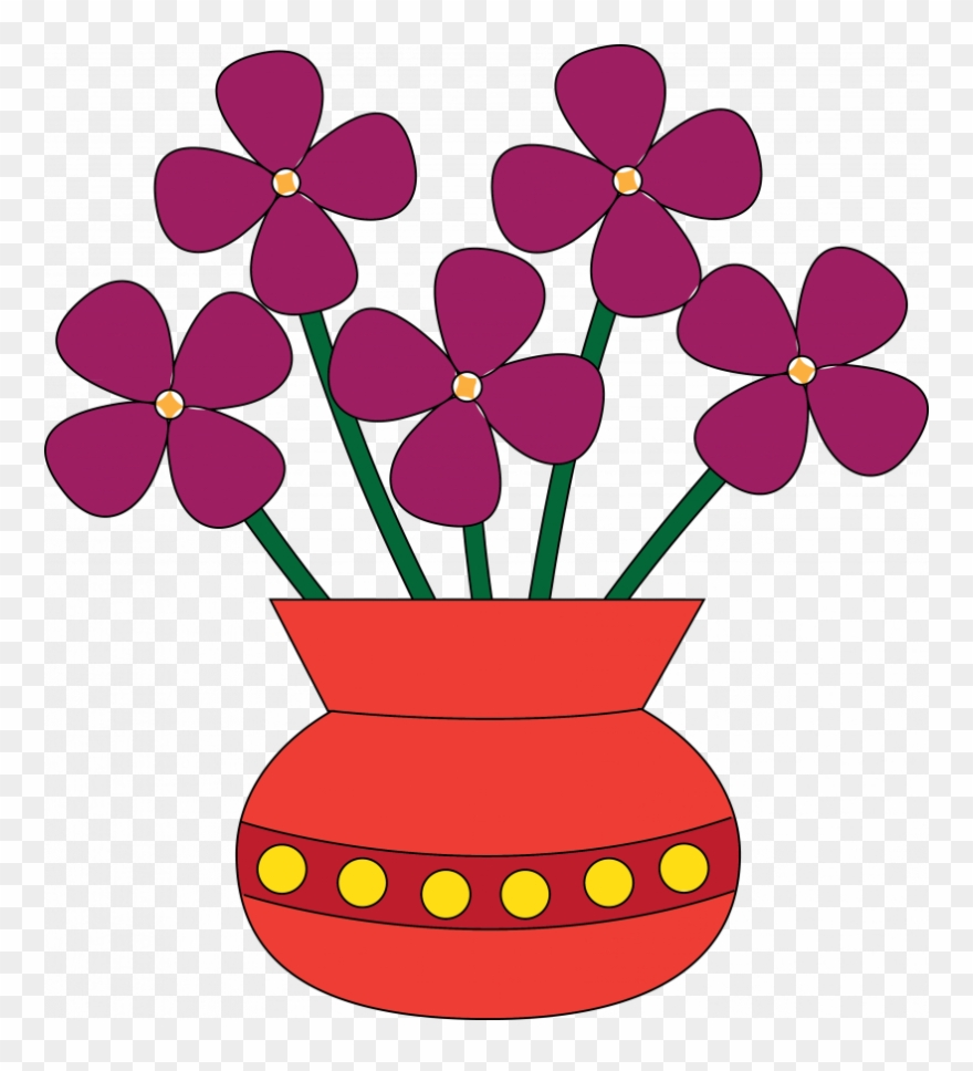Furniture attractive flower vases. Floor vase clipart