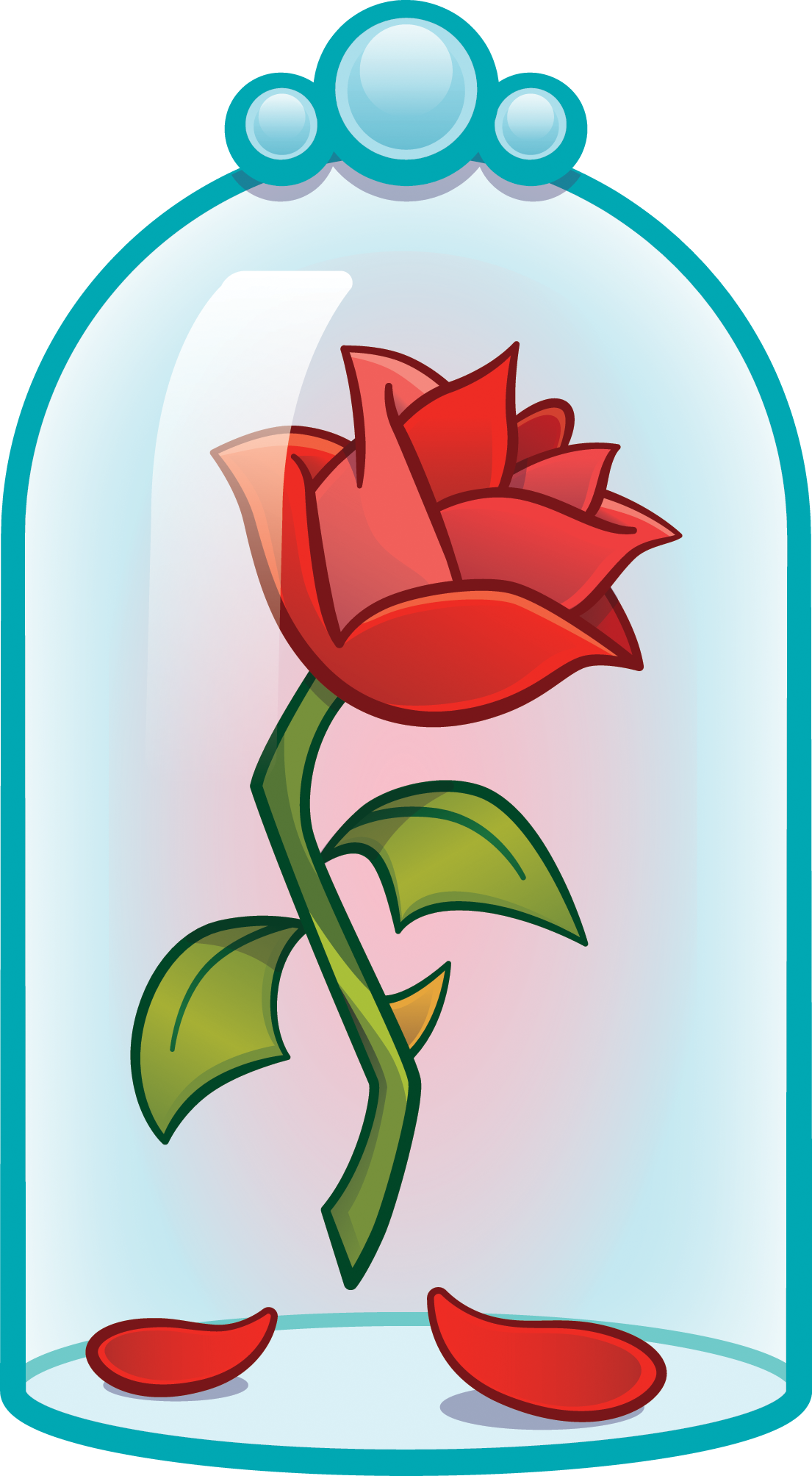 Flor de la bella y la bestia clipart graphic free download The enchanted rose [as an emoji] (Drawing by Disney ... graphic free download