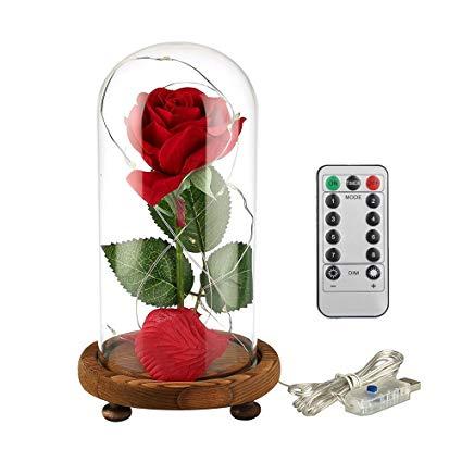 Flor de la bella y la bestia clipart.  rosa encantada artificial