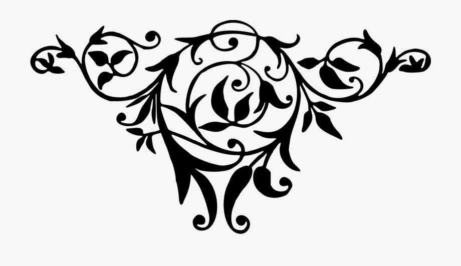 Floral art clipart banner free download Floral Design Black And White Flower Art - Floral Png Black And ... banner free download