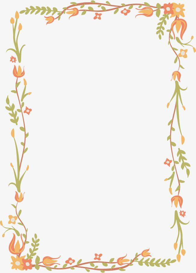 Floral border vector clipart vector royalty free library Exquisite Floral Border, Vector Png, Flower Vine, Border Of Rattan ... vector royalty free library