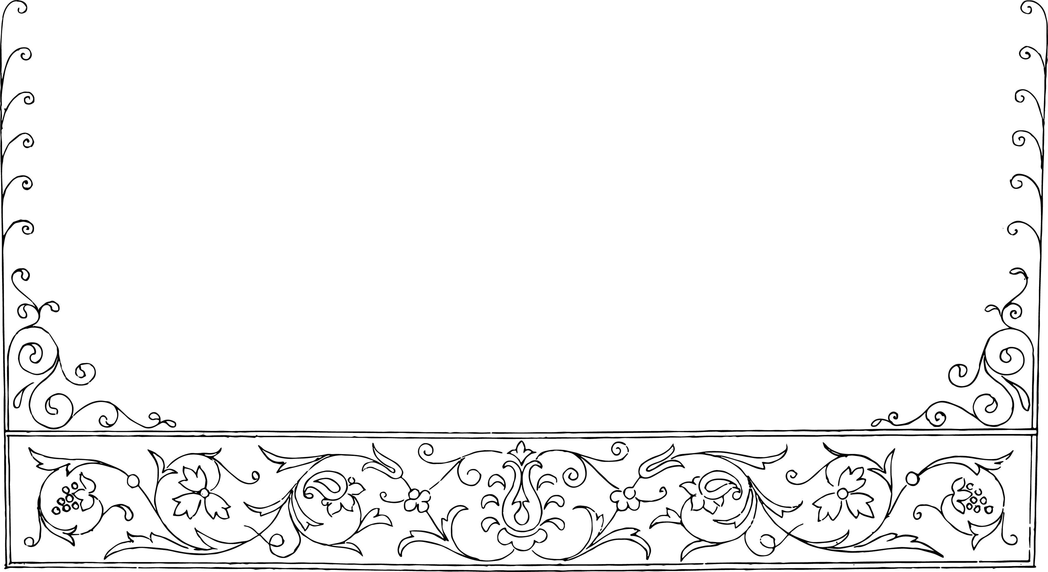Floral border vector clipart. Free borders download clip