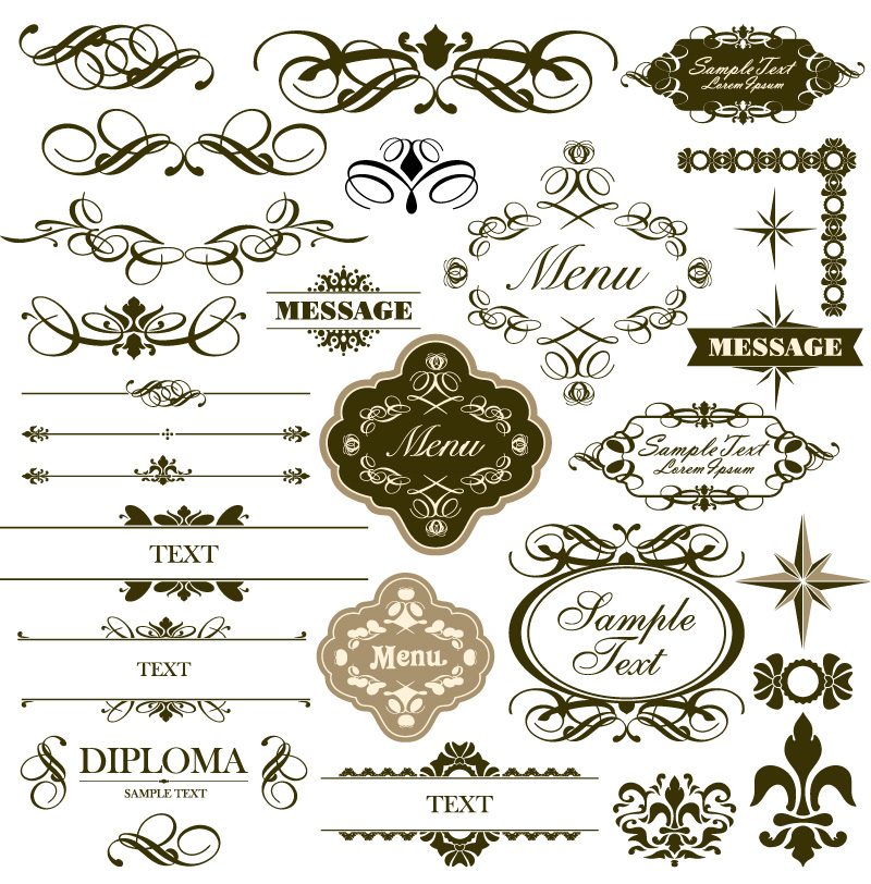 Floral borders free download svg library library Simple Floral Border | Free Vector Graphic Download svg library library