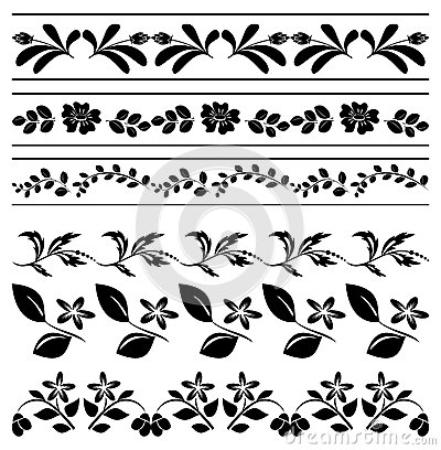 Floral borders free download stock Floral Borders - Black Tracery - Vector Royalty Free Stock Photos ... stock