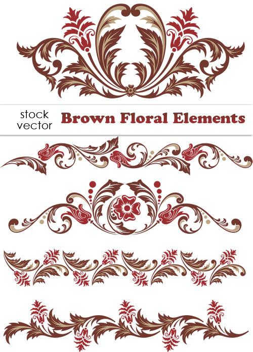 Floral borders free download svg free Brown Floral design Elements vector Borders - Vector Frames ... svg free