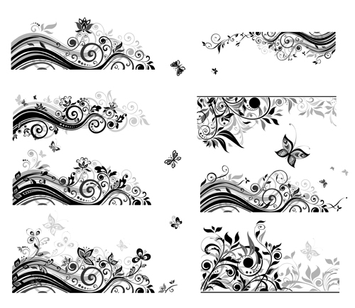 Floral borders free download clipart royalty free download Floral border with butterflies design vector - Vector Animal ... clipart royalty free download