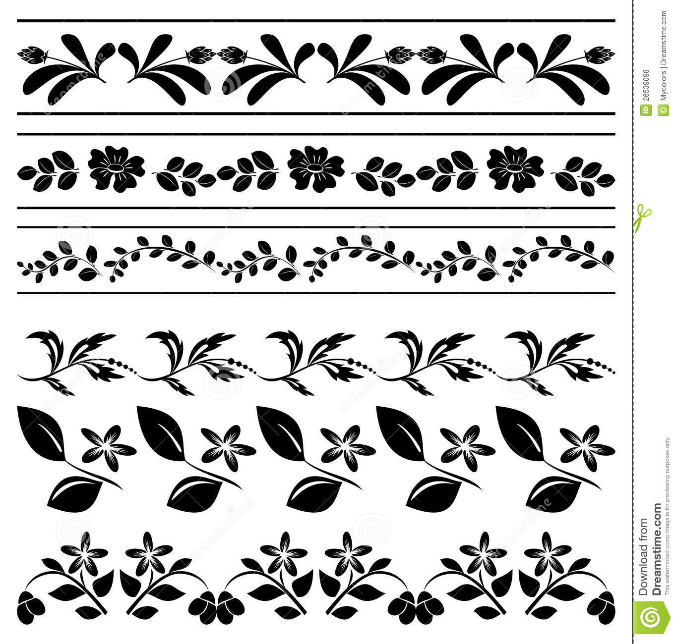 Floral borders free download graphic royalty free Floral Borders - Black Tracery - Vector Royalty Free Stock Photos ... graphic royalty free