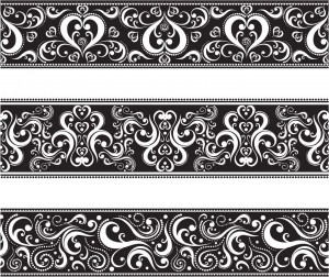 Floral borders free download clipart free library Seamless floral borders set vector | Free download clipart free library