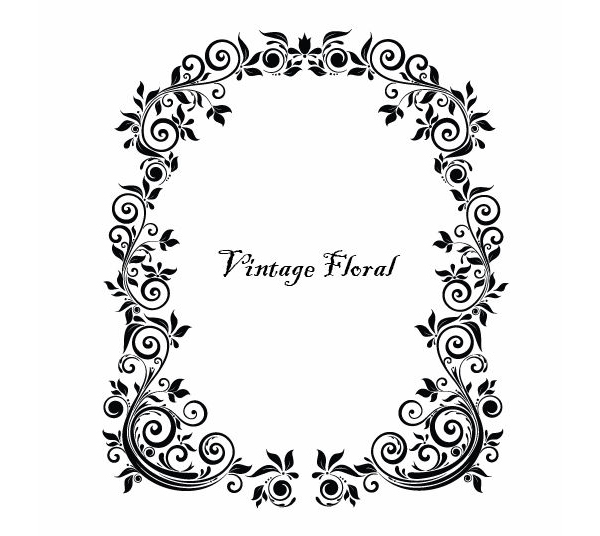 Floral borders free download clip art library stock Massive Collection of Vintage Vector Graphics: Floral Borders ... clip art library stock