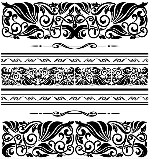 Floral borders free download jpg freeuse stock Floral Borders free vector 10 | AI format free vector download ... jpg freeuse stock