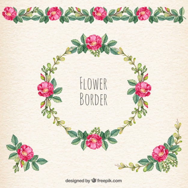 Floral borders free download svg download Flower border Vector | Free Download svg download