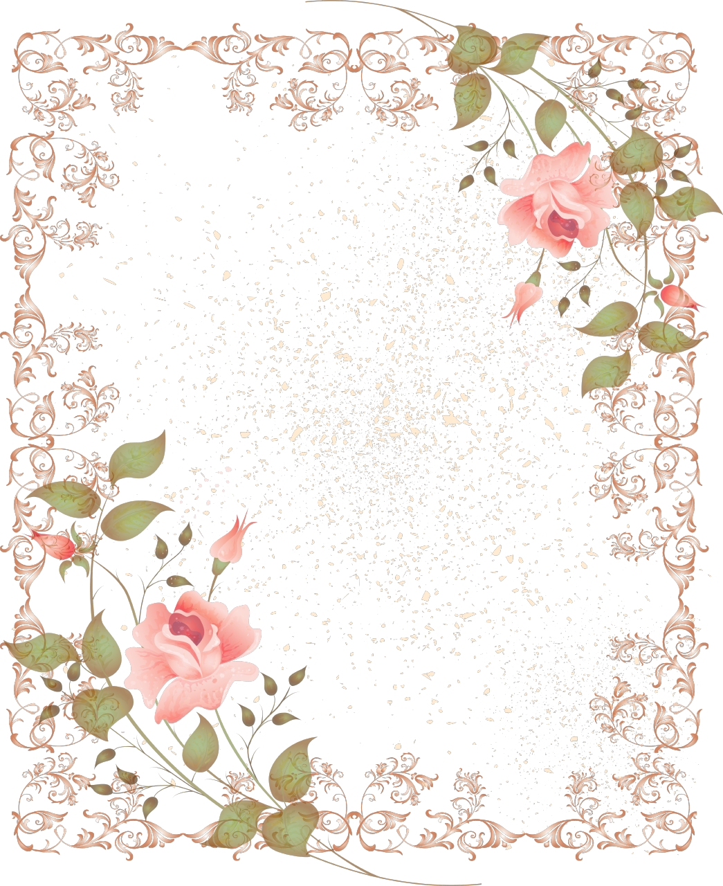 Floral borders images png library library pink floral borders | free digital flower frame png and flower ... png library library
