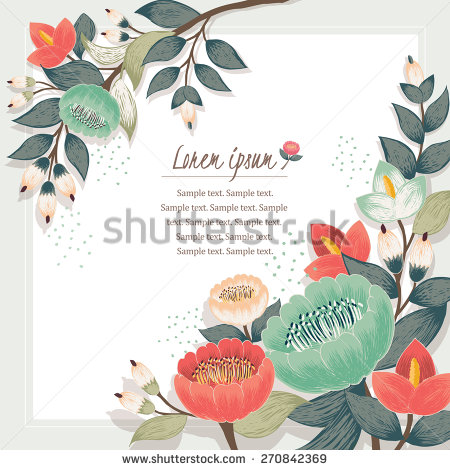 Floral borders images vector transparent library Floral Border Stock Images, Royalty-Free Images & Vectors ... vector transparent library