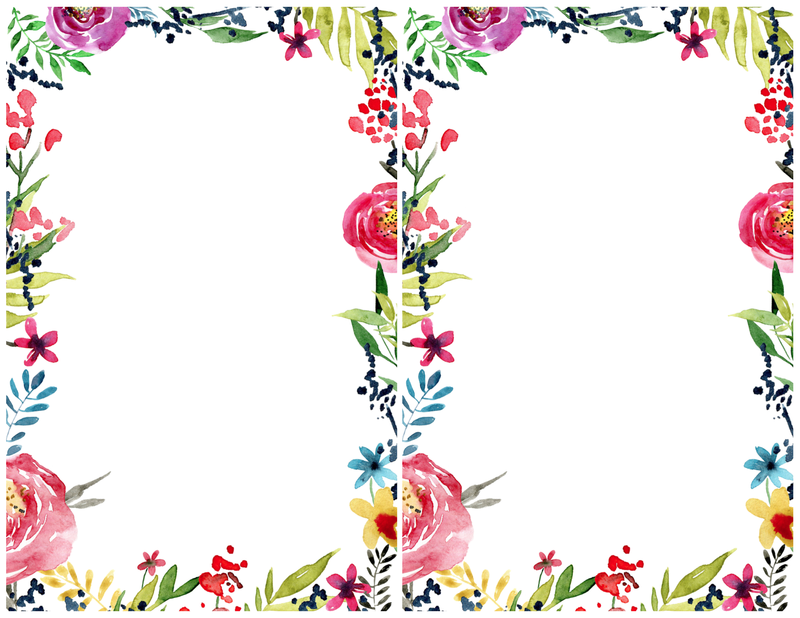 Floral borders images clip free stock Floral Borders Invitations {Free Printable Invitation Templates ... clip free stock