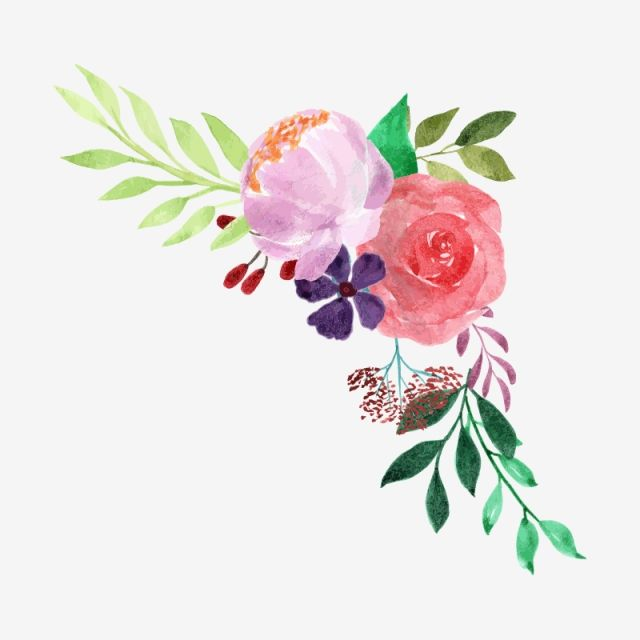 Floral bouquet clipart free picture freeuse download Watercolor Floral Bouquet, Plant, Watercolor, Flower PNG Transparent ... picture freeuse download