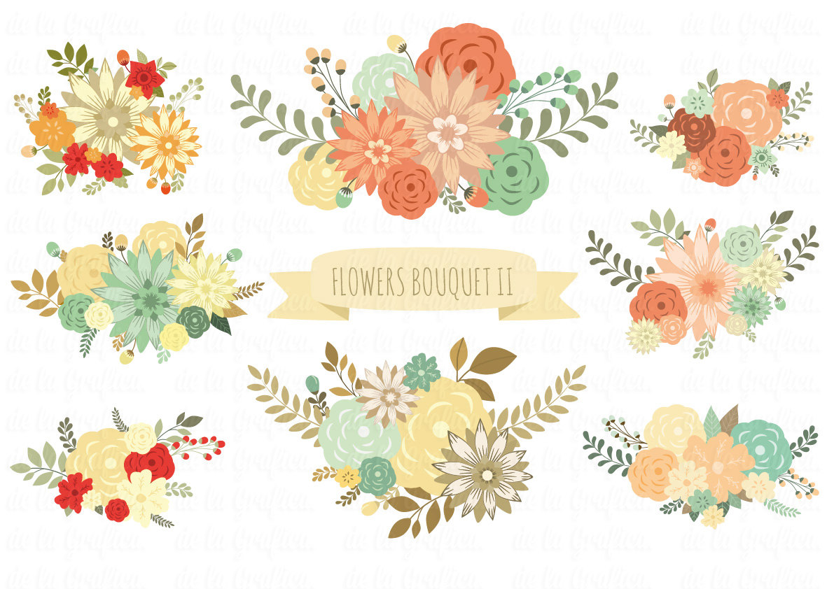 Floral bouquet clipart free freeuse library Free Flower Bunches Cliparts, Download Free Clip Art, Free Clip Art ... freeuse library
