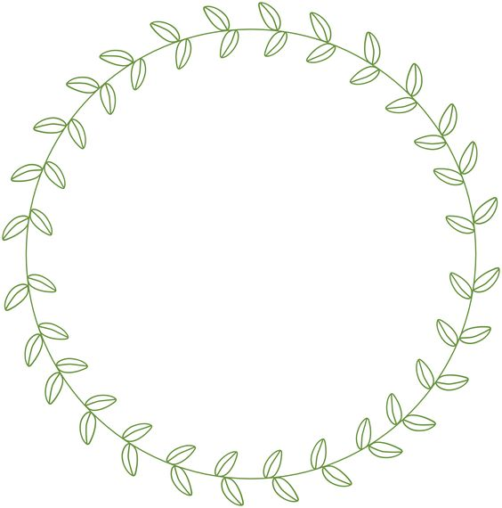 Floral circle arrow clipart clip art library library circle leaf border - Google Search | Chalkboard inspiration ... clip art library library