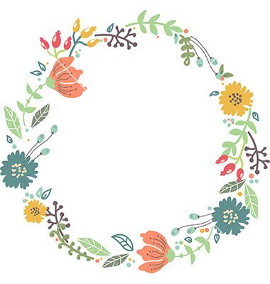 Floral circle arrow clipart clipart stock circle leaf border - Google Search | Chalkboard inspiration ... clipart stock
