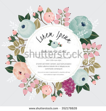 Floral circle arrow clipart graphic freeuse library Flower Circle Stock Images, Royalty-Free Images & Vectors ... graphic freeuse library