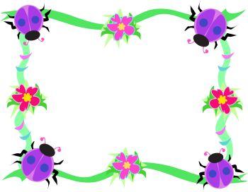 Floral clip art borders vector stock Spring Flowers Border Clipart | Clipart Panda - Free Clipart Images vector stock