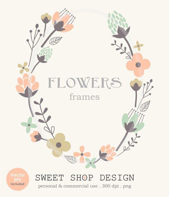 Floral clip art borders banner stock Flower Border Clip Art Frames Wedding Clip Art by SweetShopDesign ... banner stock