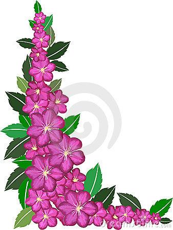 Floral clip art borders png transparent stock Flowers Border Clipart - Clipart Kid png transparent stock
