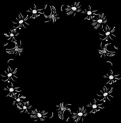 Floral clip art borders clip art black and white download Flower Border Clipart | Clipart Panda - Free Clipart Images clip art black and white download