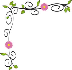 Floral clip art borders clipart black and white stock Flower Border Clipart | Clipart Panda - Free Clipart Images clipart black and white stock