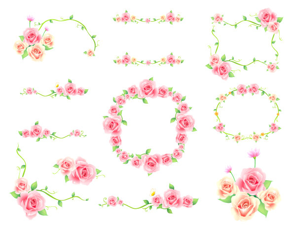 Floral clip art borders graphic freeuse stock Pink flowers clip art border - ClipartFest graphic freeuse stock