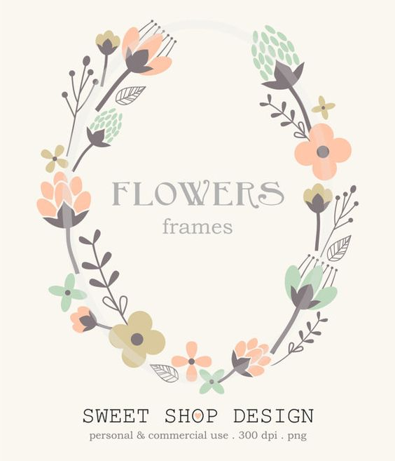 Floral clip art free download png free Flower Border Clip Art, Frames, Royalty Free Clip Art, N01 ... png free