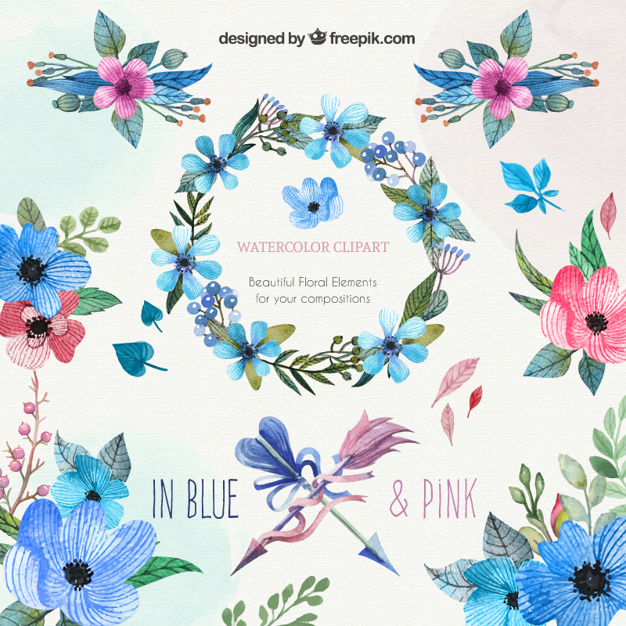 Floral clip art free download png transparent library Flower Clipart Vectors, Photos and PSD files | Free Download png transparent library