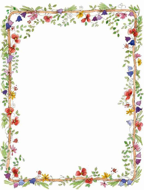 Floral clipart borders free clip library download Dalva\'s Birthday lets celebrate | Planner Ideas | Page borders ... clip library download