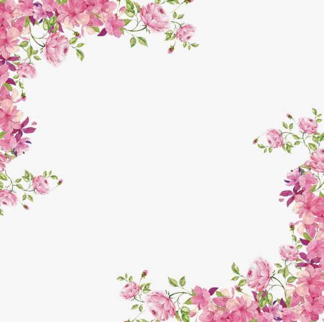 Floral clipart borders free png black and white Flowers Borders PNG, Clipart, Borders Clipart, Corner, Decoration ... png black and white