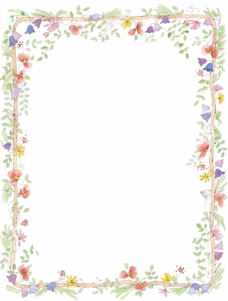 Floral clipart borders free svg black and white stock Wedding Borders Clip Art | Vector Frames And Borders Free ... svg black and white stock