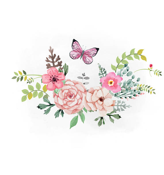 Spring clip art arts. Floral clipart country