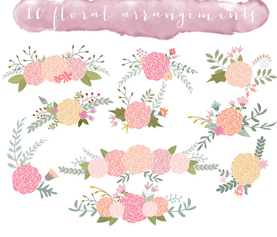 Floral clipart images svg black and white stock Free floral clip art images - ClipartFest svg black and white stock