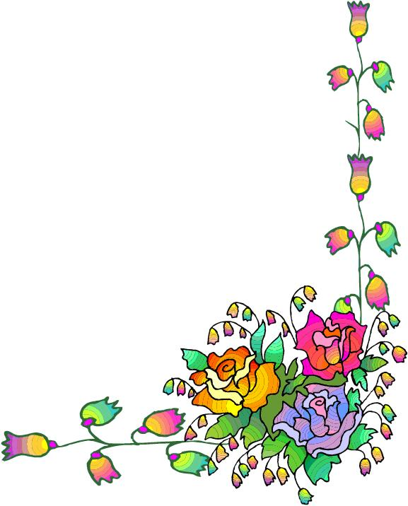 Free flower cliparts download. Floral corner borders clipart