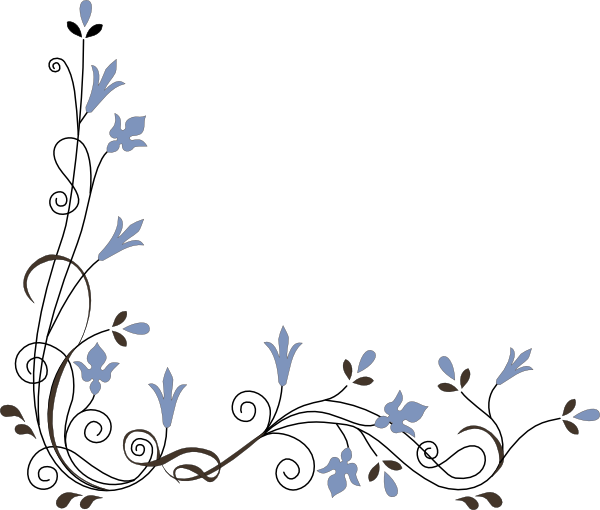 Floral corner borders clipart. Free flower cliparts download