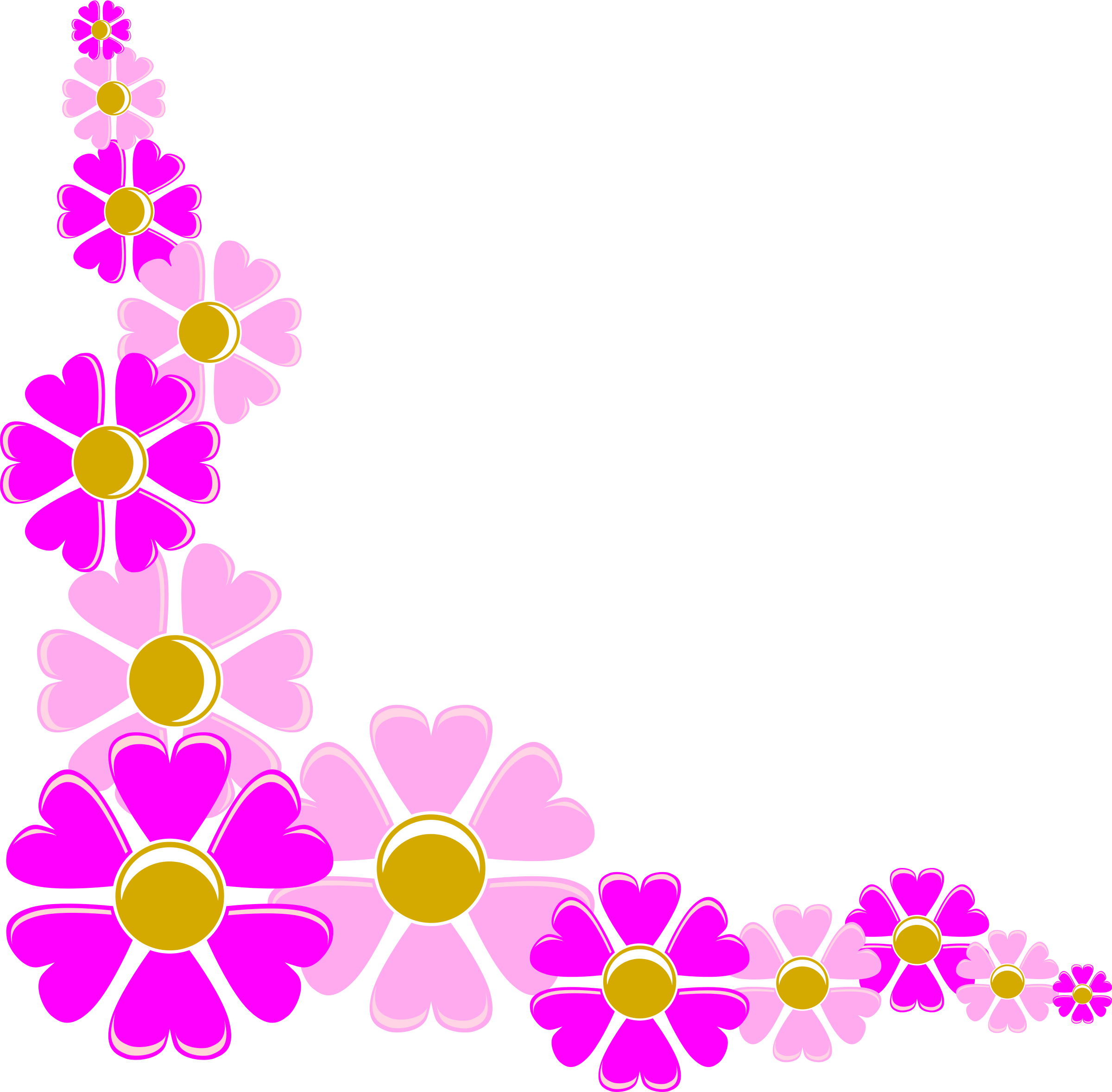 Floral corner clipart. Free flower cliparts download