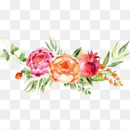 Floral decoration clipart.  watercolor