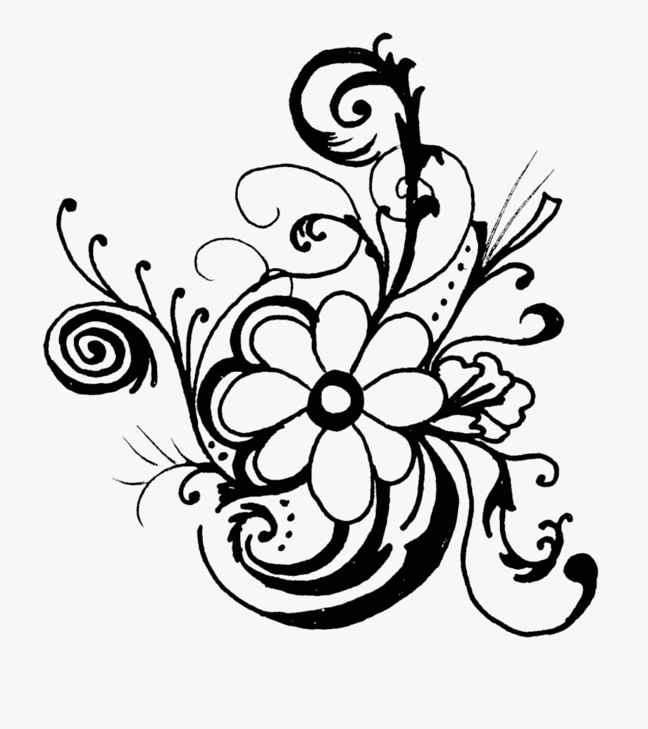 Floral designs clipart hd clipart free library Floral Flower Clipart Free Images - Flowers Clip Art Black And White ... clipart free library