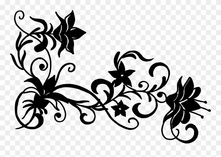 Floral designs clipart hd jpg transparent library Free Flower Vector Silhouette - Flower Design Png Black And White ... jpg transparent library