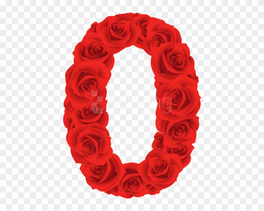 Floral designs of the number zero transluscent clipart jpg stock Download Red Roses Number Zero Clipart Png Photo - Rose Number Png ... jpg stock
