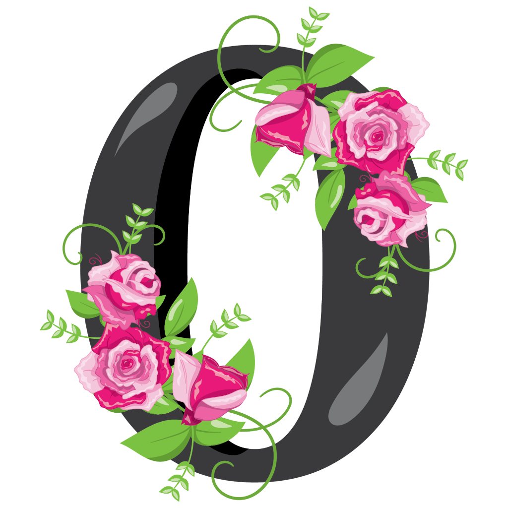 Floral designs of the number zero transluscent clipart library cero 0 numero number zero - Sticker by MonikEdits library