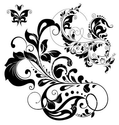 Floral graphic designs jpg royalty free download Floral graphic design elements vector   illustrations   Pinterest ... jpg royalty free download