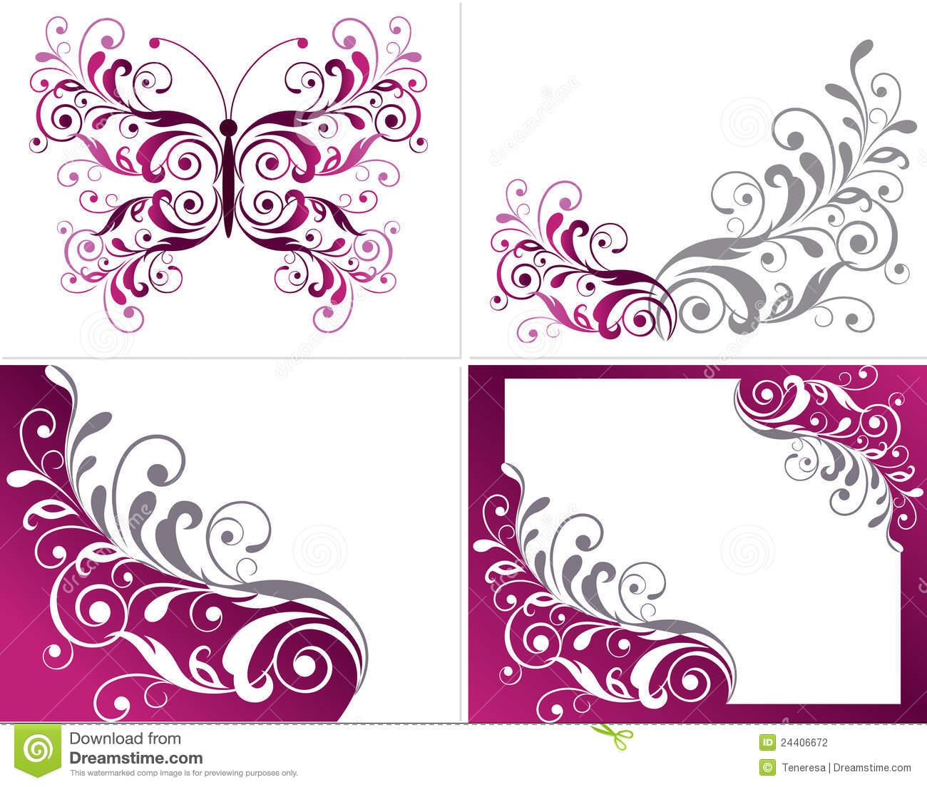 Floral graphic designs clip art Floral Graphics Design Elements Stock Photography - Image: 24406672 clip art