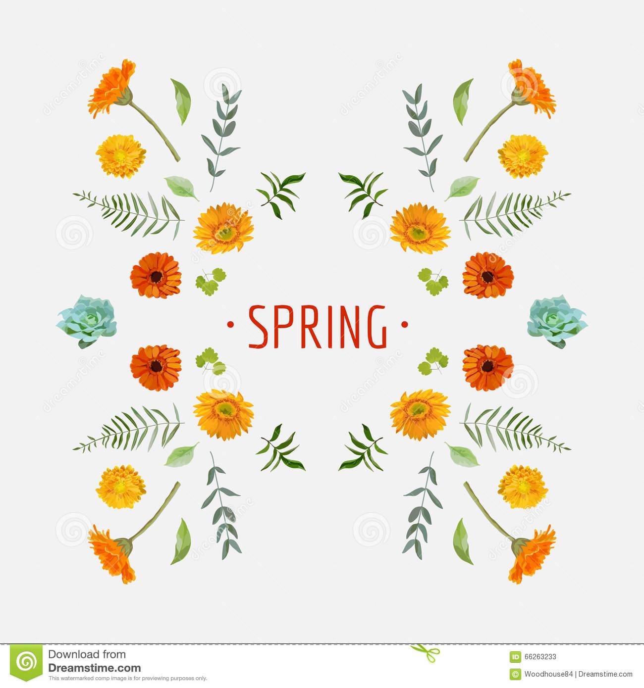 Floral graphic designs clip black and white download Spring - Floral Graphic Design Stock Vector - Image: 66263232 clip black and white download