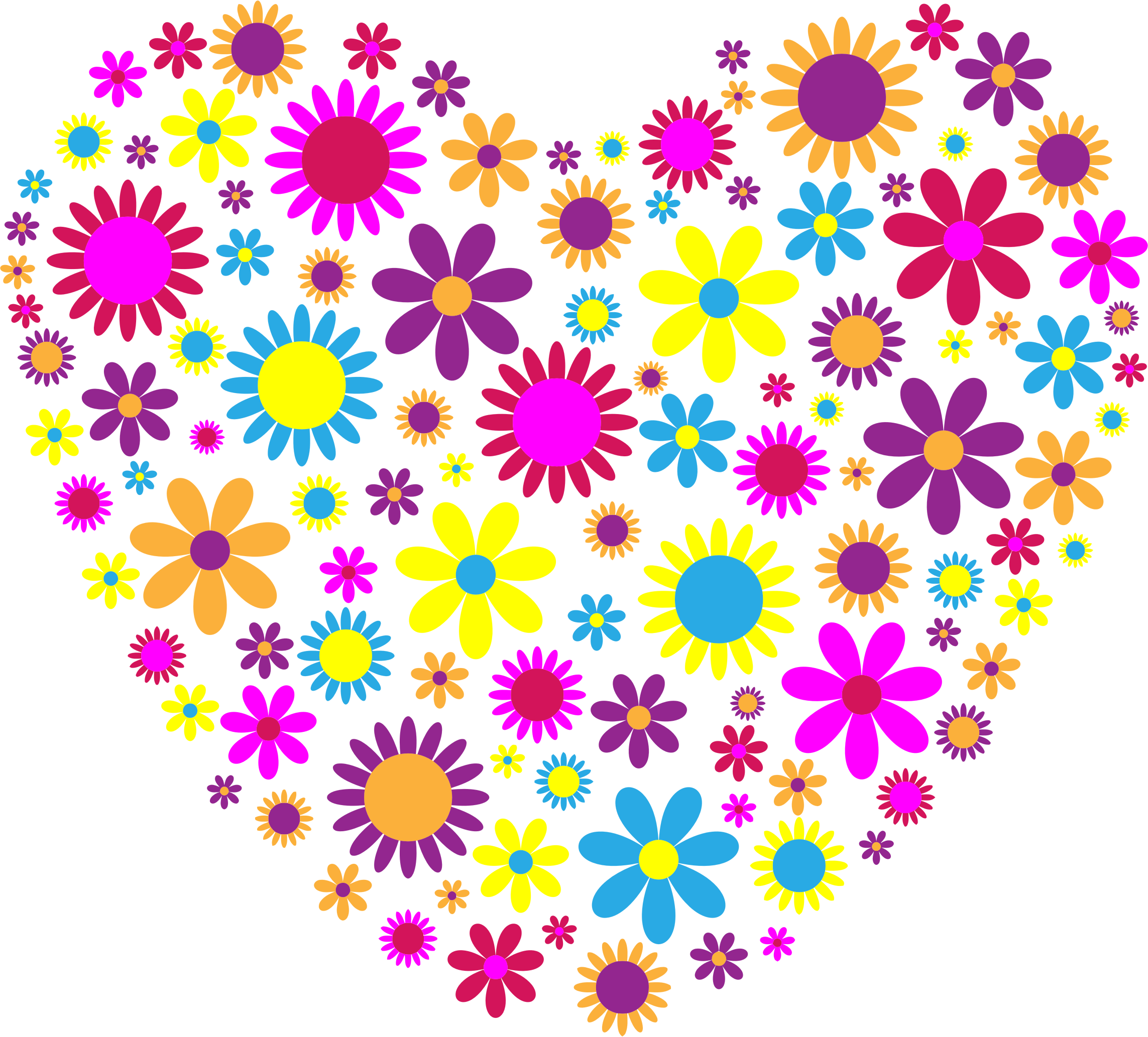 Floral heart clipart free library Clipart - Floral Heart free library